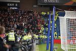 19.09.2019 Rangers v Feyenoord: Feyenoord fans feeling feisty at half time