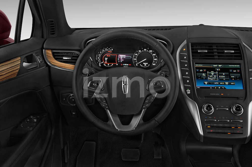 Car pictures of steering wheel view of a 2018 Lincoln MKC FWD 5 Door SUV Steering Wheel