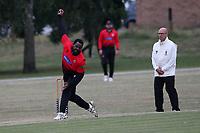 Jermaine Shillingford of Hornchurch during Hornchurch CC vs Buckhurst Hill CC (batting), Essex Cricket League Cricket at Harrow Lodge Park on 25th July 2020