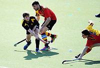 Action from the National Senior Tournament men's hockey match between Wellington and Waikato at National Hockey Stadium in Wellington, New Zealand on Wednesday, 20 October 2017. Photo: Dave Lintott / lintottphoto.co.nz