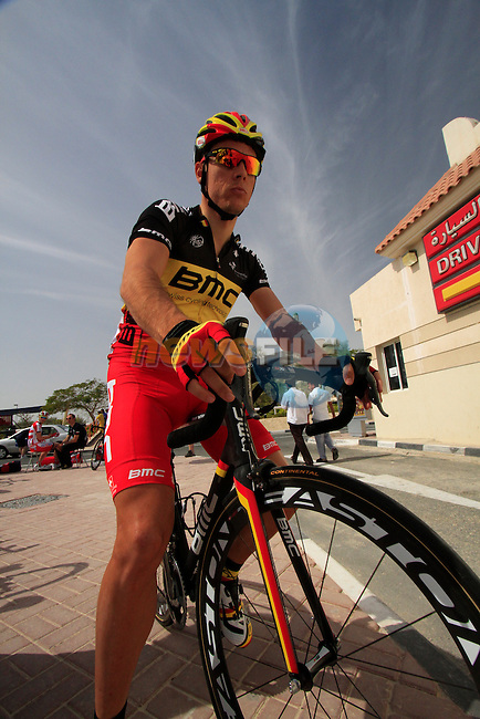 BMC Racing Team rider Belgian Champion Philippe Gilbert before the start of the 3rd Stage of the 2012 Tour of Qatar outside Dukhan Souq, Dukhan, Qatar, 7th February 2012 (Photo Eoin Clarke/Newsfile)