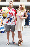 JUL 05 Joey Chestnut and Miki Sudo At NBC's Today Show