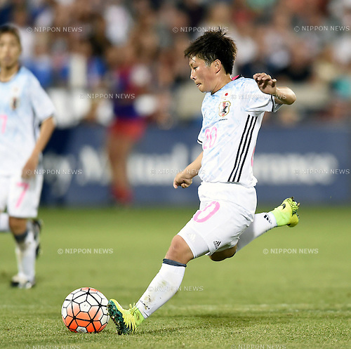 Kumi Yokoyama (JPN), JUNE 2, 2016 - Football / Soccer : Kumi Yokoyama of Japan scores a goal during the Women's International Friendly match between United States 3-3 Japan at Dick's Sporting Goods Park in Commerce City, Colorado, United States. (Photo by AFLO)