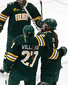 Taylor Willard (UVM - 27), Éve-Audrey Picard (UVM - 26) -  The Boston College Eagles defeated the University of Vermont Catamounts 4-3 in double overtime in their Hockey East semi-final on Saturday, March 4, 2017, at Walter Brown Arena in Boston, Massachusetts.