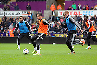 Wednesday, 23 April 2014<br /> Pictured: Pablo Hernandez<br /> Re: Swansea City FC are holding an open training session for their supporters at the Liberty Stadium, south Wales,