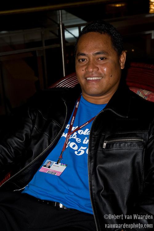 Taukiei Kitala, Tuvalu. Bonn Climate Change talks. (©Robert vanWaarden)
