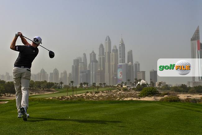 Richard McEvoy (ENG) on the 8th tee during Round 1 of the Omega Dubai Desert Classic, Emirates Golf Club, Dubai,  United Arab Emirates. 24/01/2019<br /> Picture: Golffile | Thos Caffrey<br /> <br /> <br /> All photo usage must carry mandatory copyright credit (© Golffile | Thos Caffrey)