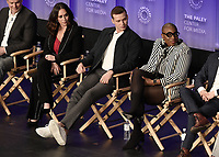 "HOLLYWOOD, CA - MARCH 17:  Jennifer Love Hewitt, Oliver Stack and Aisha Hinds  at PaleyFest 2019 - Fox's ""9-1-1"" panel at the Dolby Theatre on March 17, 2019 in Hollywood, California. (Photo by Scott Kirkland/Fox/PictureGroup)"