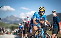 at the gravel section atop the Montée du plateau des Glières (HC/1390m)<br /> <br /> Stage 18 from Méribel to La Roche-sur-Foron (175km)<br /> <br /> 107th Tour de France 2020 (2.UWT)<br /> (the 'postponed edition' held in september)<br /> <br /> ©kramon