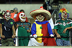 22 July 2015: Mexico fans dressed as clowns. The Panama Men's National Team played the Mexico Men's National Team at the Georgia Dome in Atlanta, Georgia in a 2015 CONCACAF Gold Cup semifinal match.