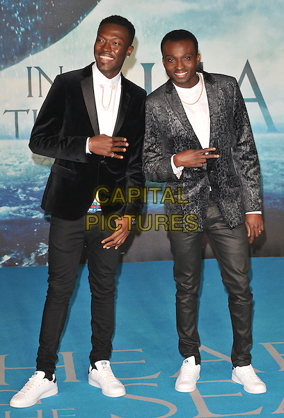 Reggie 'N' Bollie attend the &quot;In The Heart Of The Sea&quot; European film premiere, Empire cinema, Leicester Square, London, UK, on Wednesday 02 December 2015.<br /> CAP/CAN<br /> &copy;CAN/Capital Pictures