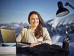 Glacier 3000, le 7 décembre 2016, Elisa Stresse, nouvelle directrice de l'Office du Tourisme des Diablerets © sedrik nemeth