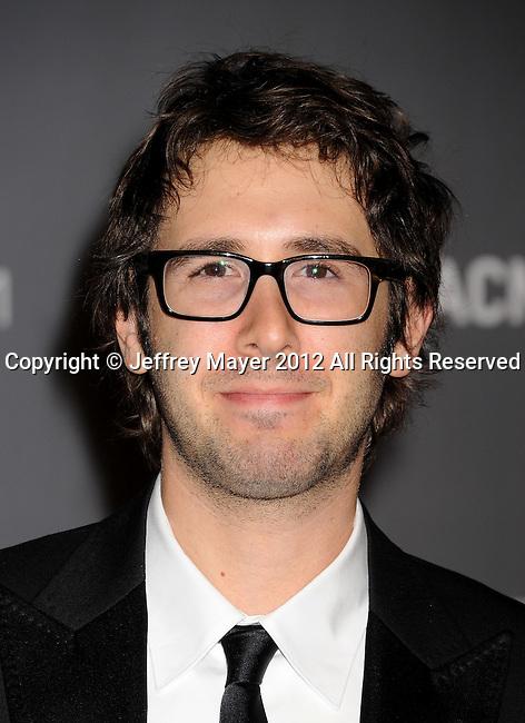 LOS ANGELES, CA - OCTOBER 27: Josh Groban arrives at LACMA Art + Film Gala at LACMA on October 27, 2012 in Los Angeles, California.