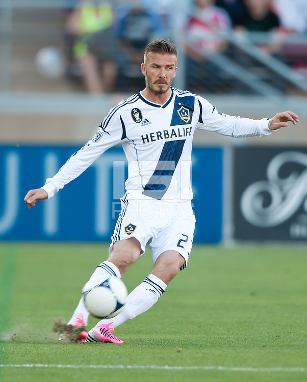 Stanford, California - Saturday June 30, 2012: David Beckham in action during a game at Stanford Stadium, Stanford, Ca.San Jose Earthquakes defeated Los Angeles Galaxy,  4 to 3