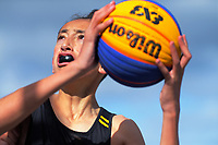 3x3 Basketball. 2019 AIMS games at Bay Park in Tauranga, New Zealand on Wednesday, 11 September 2019. Photo: Dave Lintott / lintottphoto.co.nz