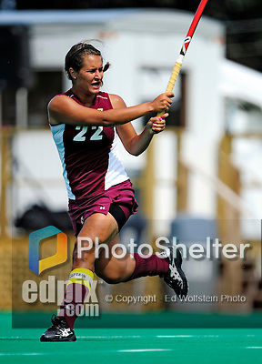 28 August 2009: Boston College Eagles' Team Captain Emily Kozniuk, a Junior from North Vancouver, BC, in action against the University of Vermont Catamounts at Moulton Winder Field in Burlington, Vermont. The Eagles shut out the Catamounts 3-0 in both teams' first game of the 2009 season. Mandatory Photo Credit: Ed Wolfstein Photo
