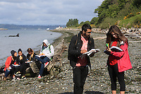 Geology class @ Seattle's Discovery Park