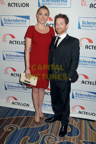 5 June 2015 - Beverly Hills, California - Clare Grant, Seth Green. Cool Comedy - Hot Cuisine Benefit For The Scleroderma Research Foundation held at the Beverly Wilshire hotel. <br /> CAP/ADM/BP<br /> &copy;BP/ADM/Capital Pictures