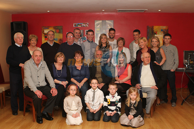 Thomas Smith with family at his 70th birthday party in Hanrattys...Photo NEWSFILE/Jenny Matthews..(Photo credit should read Jenny Matthews/NEWSFILE)