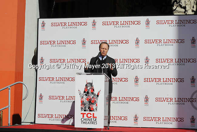 HOLLYWOOD, CA - FEBRUARY 04: Billy Crystal attends  the Robert De Niro hand and foot print ceremony at TCL Chinese Theatre on February 4, 2013 in Hollywood, California.