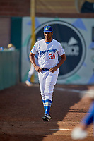 Ogden Raptors starting pitcher Alfredo Tavarez (30) before the game against the Orem Owlz at Lindquist Field on June 22, 2019 in Ogden, Utah. The Owlz defeated the Raptors 7-4. (Stephen Smith/Four Seam Images)