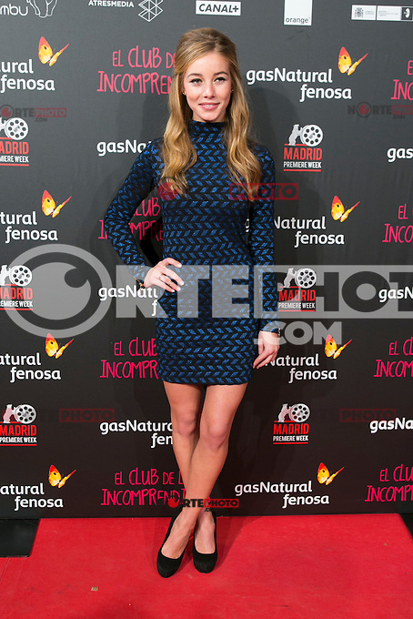 attend the Premiere of the movie &quot;El club de los incomprendidos&quot; at callao Cinema in Madrid, Spain. December 1, 2014. (ALTERPHOTOS/Carlos Dafonte) /NortePhoto<br />