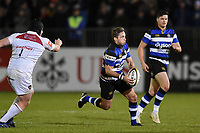 Darren Allinson of Bath Rugby goes on the attack. Anglo-Welsh Cup match, between Bath Rugby and Leicester Tigers on November 10, 2017 at the Recreation Ground in Bath, England. Photo by: Patrick Khachfe / Onside Images