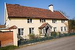 Historic detached rural farmhouse with plasterwork pargetting, Chattisham, Suffolk, England
