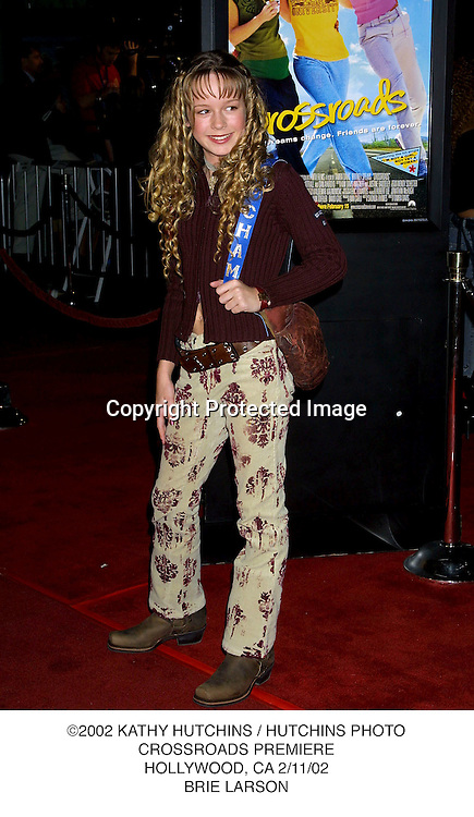 ©2002 KATHY HUTCHINS / HUTCHINS PHOTO.CROSSROADS PREMIERE.HOLLYWOOD, CA 2/11/02.BRIE LARSON