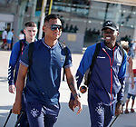 22.06.2019 Rangers arrive in Portugal: Alfredo Morelos and Sheyi Ojo