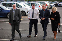 Pictured: Huw Lakey (2nd L) and club chairman Huw Jenkins (3rd L) Wednesday 18 May 2017<br />Re: Swansea City FC, Player of the Year Awards at the Liberty Stadium, Wales, UK.