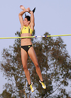 Jenn Stuczynski won the pole vault with a clearance of 4.76m at the Adidas Track Classic 2009 on Saturday, May 16, 2009. Photo by Errol Anderson,The Sporting Image.net