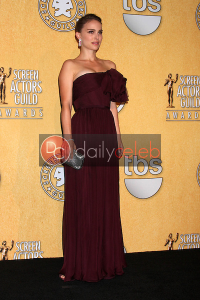 Natalie Portman<br /> at the 18th Annual Screen Actors Guild Awards Pressroom, Shrine Auditorium, Los Angeles, CA 01-29-12<br /> David Edwards/DailyCeleb.com 818-249-4998