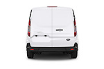 Straight rear view of a 2015 Ford Transit Connect Trend 5 Door Minivan Rear View  stock images