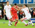 Umit Korkmaz and Marcin Wasilewski at Euro 2008. Austria-Poland 06122008, Wien, Austria