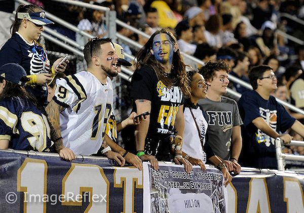 Florida International University students at the game against Florida Atlantic University on November 12, 2011 at Miami, Florida. FIU won the game 41-7. .