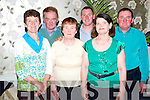 Pictured at the Ray O'Sullivan benefit night in the Gleneagle hotel, Killarney on Friday night were Joan McAulliffe, Jim Fleming, Mary Fleming, Declan McAulliffe, Betty Guerin and Paudie McAulliffe.