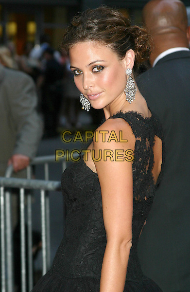 "JOSIE MARAN.""Little Black Book"" Premiere,. Ziegfeld Theatre, New York City, .July 21th 2004..half length black lace dress large silver drop earrings.Ref: IW.www.capitalpictures.com.sales@capitalpictures.com.©Capital Pictures."