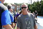 23 August 2015: Weber State head coach Tim Crompton. The Duke University Blue Devils played the Weber State University Wildcats at Fetzer Field in Chapel Hill, NC in a 2015 NCAA Division I Women's Soccer game. Duke won the game 4-0.