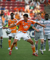 Houston Dynamo forward Brian Ching (25).  Houston Dynamo defeated FC Dallas 1-0 in an MLS regular season match at Robertson Stadium in Houston, TX on August 19, 2007.