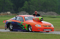 April 30, 2011; Baytown, TX, USA: NHRA pro stock driver Dave River during the Spring Nationals at Royal Purple Raceway. Mandatory Credit: Mark J. Rebilas-