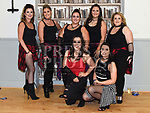 laura King, Nuala Byrne, Annmarie Branigan, Moira Murtagh, Grainne McCullough, Ciara Wallace and Lauren Smith who took part in the Alzheimers Lip Sync competition in the O'Raghallaighs. Photo:Colin Bell/pressphotos.ie