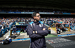 David Wagner manager of Huddersfield Town during the English Championship play-off 1st leg match at the John Smiths Stadium, Huddersfield. Picture date: May 13th 2017. Pic credit should read: Simon Bellis/Sportimage