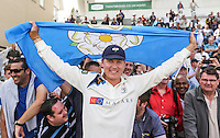 Picture by Alex Whitehead/SWpix.com - 12/09/2014 - Cricket - LV County Championship Div One - Nottinghamshire CCC v Yorkshire CCC, Day 4 - Trent Bridge, Nottingham, England - Yorkshire's Gary Balance celebrates after winning the title.