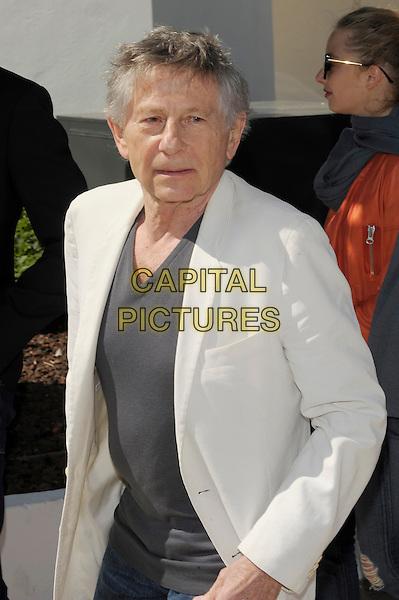 Roman Polanski.'La Venus A La Fourrure'  photocall at the 66th Cannes Film Festival, France 23rd May 2013.half length grey gray top white suit jacket .CAP/PL.©Phil Loftus/Capital Pictures.