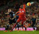 Christian Benteke of Liverpool tussles with Nicolas Otamendi of Manchester City - English Premier League - Liverpool vs Manchester City - Anfield Stadium - Liverpool - England - 3rd March 2016 - Picture Simon Bellis/Sportimage