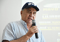 "MONTERIA - COLOMBIA, 18-05-2018: Rodolfo Fortich, delegado de la AMB de la velada boxistica por el título Mundial Supergallo de la WBA ,durante la conferencia de prensa con la boxeadora Liliana ""La Tigresa"" Palmera  de Montería , antes de la pelea por la defensa de su títiulo Mundial Super Gallo contra Yazmín ""La rusita ""Rivas  de México a realizarse el coliseo ""Happy Lora "" de esta ciudad , mañana Sábado ./ Rodolfo Fortich, delegate of the WBA , of the boxing evening for the WBA Super Bantamweight title during press conference with Liliana ""La Tigresa"" Palmera de Montería, before the fight for the defense of her World Super Gallo title against Yazmin Rivas of Mexico to be held at the ""Happy Lora"" Coliseum of this city tomorrow Saturday. Photo: VizzorImage / Andrés Felipe López Vargas / Contribuidor"