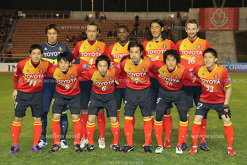 Nagoya Grampus team group line-up, MARCH 7, 2012 - Football : AFC Champions League 2012 Qualifying Round 1st match between Nagoya Grampus 2-2 Seongnam Ilhwa Chunma Sports Club at Mizuho Athletic Stadium in Nagoya, Aichi, Japan. (Photo by Akihiro Sugimoto/AFLO SPORT) [1080]