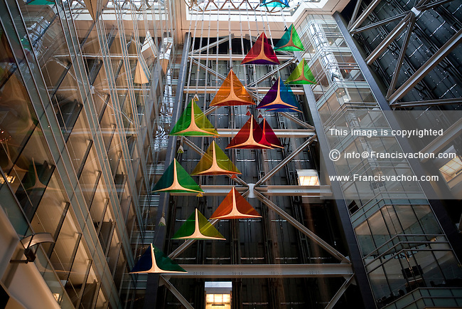 """The lobby of the Compuware headquarters is seen in Detroit (Mi) Saturday June 8, 2013. Compuware Corporation is an American software company with products aimed at the information technology (""""IT"""") departments of large businesses."""
