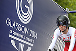 Glasgow 2014 Commonwealth Games<br /> <br /> Elinor Barker (Wales) competing in the Women's time trial race.<br /> <br /> 31.07.14<br /> &copy;Steve Pope-SPORTINGWALES